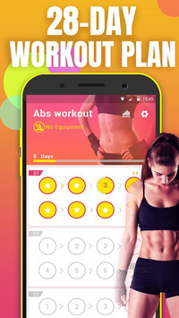 Abs Workout - lose belly fat & build ab in 28 day pc screenshot 1