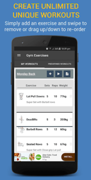 Gym Exercises & Workouts pc screenshot 1