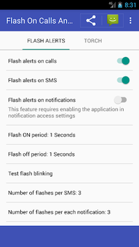 Flash on calls, SMS and notifications pc screenshot 1