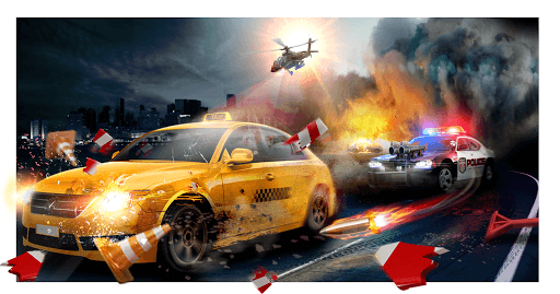 Police Chase -Death Race Speed Car Shooting Racing pc screenshot 1