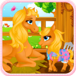 Pony Gives Birth Baby Games icon