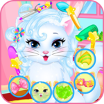 Baby kitty hair salon icon