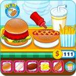 Burger shop fast food icon