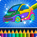Cars coloring game icon