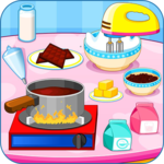 Cooking chocolate cake icon