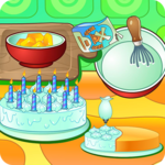 Cooking cream cake birthday icon
