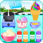 Cooking ice cream and gelato icon