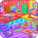 Doll house decoration game icon