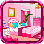Girly room decoration game icon