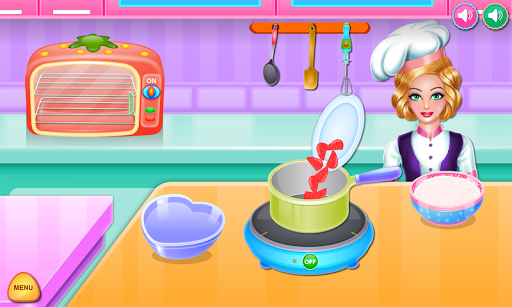 Olivia cooking strawberry cake pc screenshot 2