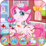 Pony doctor game icon