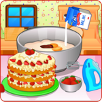 Cooking strawberry short cake icon