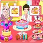 Wedding cake factory icon
