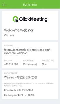 ClickMeeting Webinars pc screenshot 2