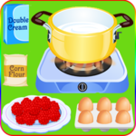 cook cake with berries games icon