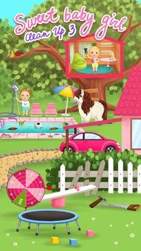 Sweet Baby Girl Cleanup 3 pc screenshot 1