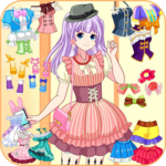 Anime dress up game icon