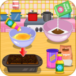 Cook a banana and chocolate bread icon