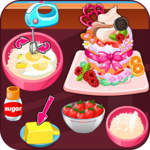 Cook strawberry short cake cookies icon