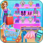 Shopping mall & dress up game icon