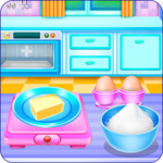 Doll House Cake Cooking for pc logo