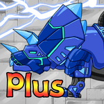 Dino Robot - Triceratops Blue icon