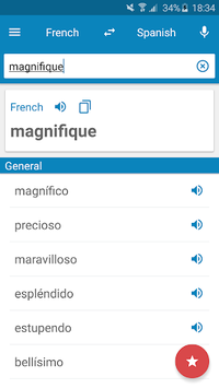 French-Spanish Dictionary pc screenshot 1