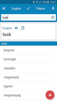 Filipino-English Dictionary pc screenshot 1