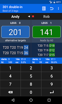 Darts Scoreboard pc screenshot 1