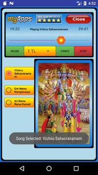Vishnu Sahasranamam Audio pc screenshot 1