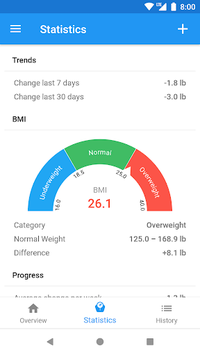 Weight Loss Tracker & BMI Calculator – WeightFit pc screenshot 2