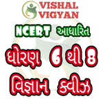 NCERT Based Science MCQ STD 6 To 8 Vishal Vigyan icon