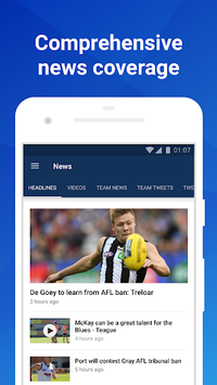 Footy Live: Live AFL scores, stats and news. pc screenshot 1