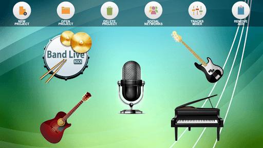 Band Live Rock (drum, bass, guitar, piano, mic) pc screenshot 1