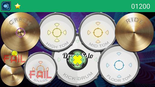 Drum Hero (rock music game, tiles style) pc screenshot 2
