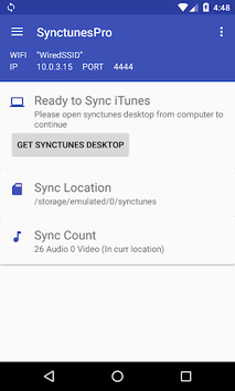 SynctunesX: iTunes to android pc screenshot 1