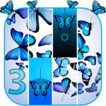Blue Butterfly Piano Tiles 2019 for pc logo
