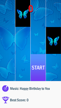 Blue Butterfly Piano Tiles 2019 pc screenshot 1