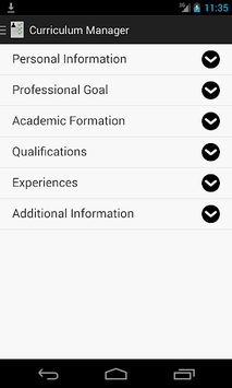 Curriculum Manager / Resume pc screenshot 1