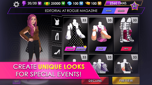 Fashion Fever - Dress Up, Styling and Supermodels pc screenshot 1