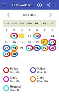 Easy work scheduling pc screenshot 1