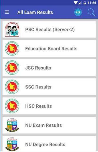 All Exam Results - PSC, JSC, SSC, HSC, NU PC screenshot 2