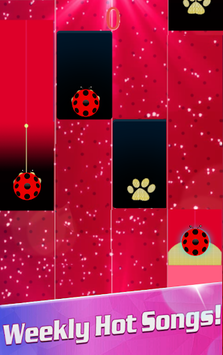 Piano Ladybug Noir Tiles pc screenshot 1