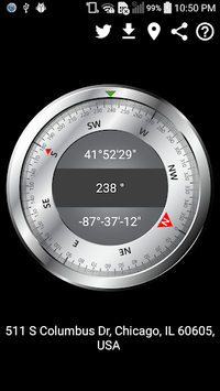 Compass With GPS Map pc screenshot 1