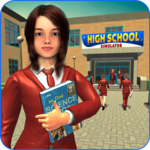 High School Girl Simulator: Virtual Life Game 3D icon
