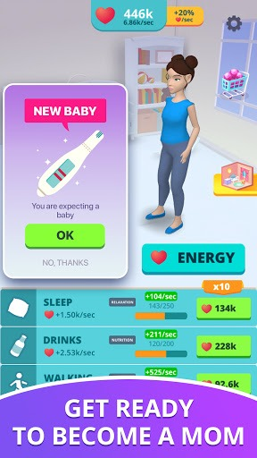 Baby & Mom - Pregnancy Idle 3D Simulator PC screenshot 1
