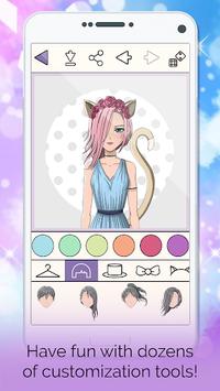 Anime Avatar Creator: Make Your Own Avatar pc screenshot 1