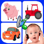 Sound for kids. Baby touch sound. Laugh & cry icon