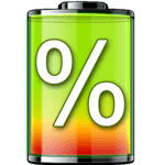 show battery percentage icon
