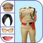 Woman Police Suit Photo Editor for pc logo